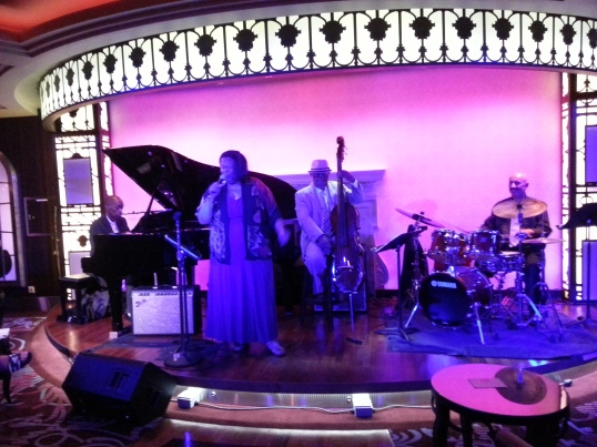 At Jazz on 4, we preformed from 9:30 pm to 12:30 a.m. six nights a week.