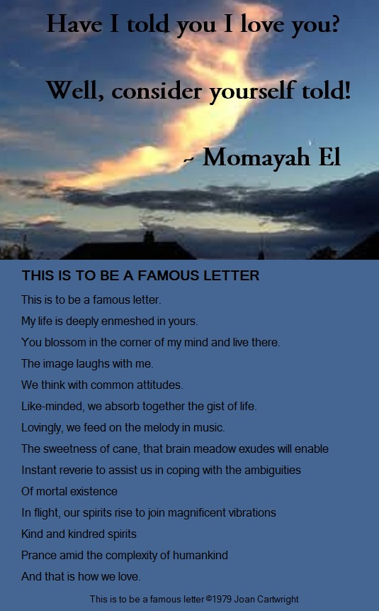 have I told you I love you - famous letter - momayah el