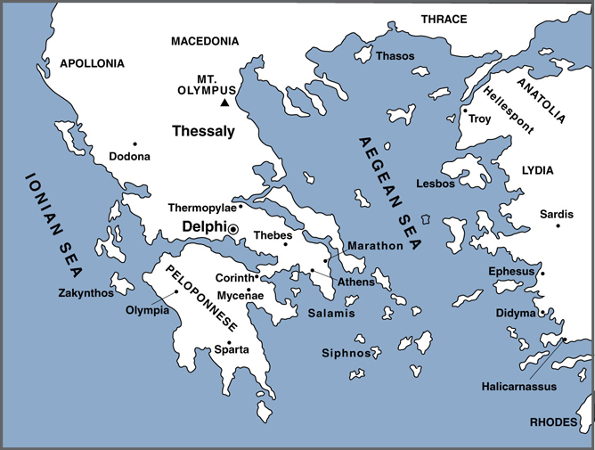 Ancient Greece Map Asia