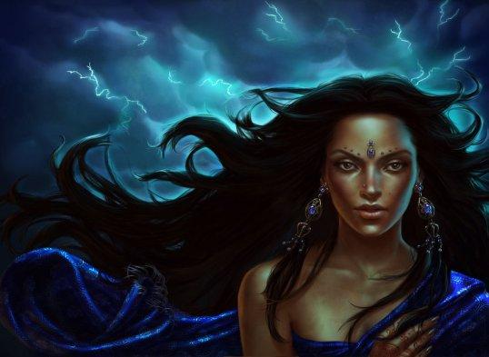 durga hindu_goddess_of_lightening_by_lithriel-d4a0gd8